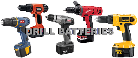 DeWalt, Milwaukee, Ryobi,Craftsmen, and Black and Decker Batteries.