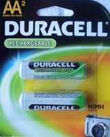 AA Duracell NimH Rechargeable Battery, 2300mAh